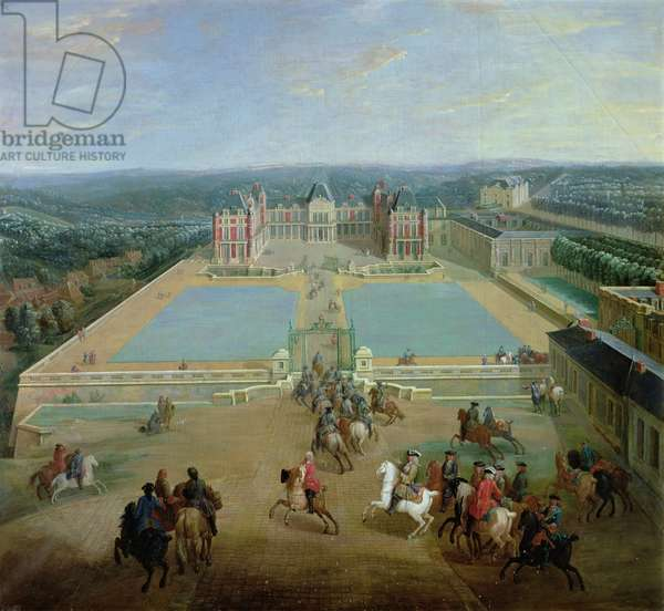 The Chateau de Meudon from the side of the avenue, 1722 (oil on canvas)
