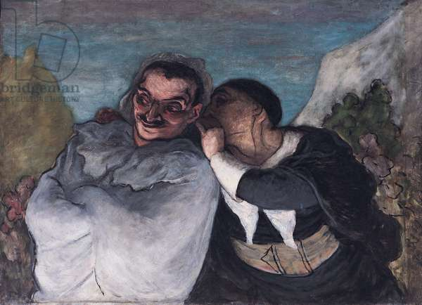 Crispin and Scapin, or Scapin and Sylvester, c.1863-65 (oil on canvas)