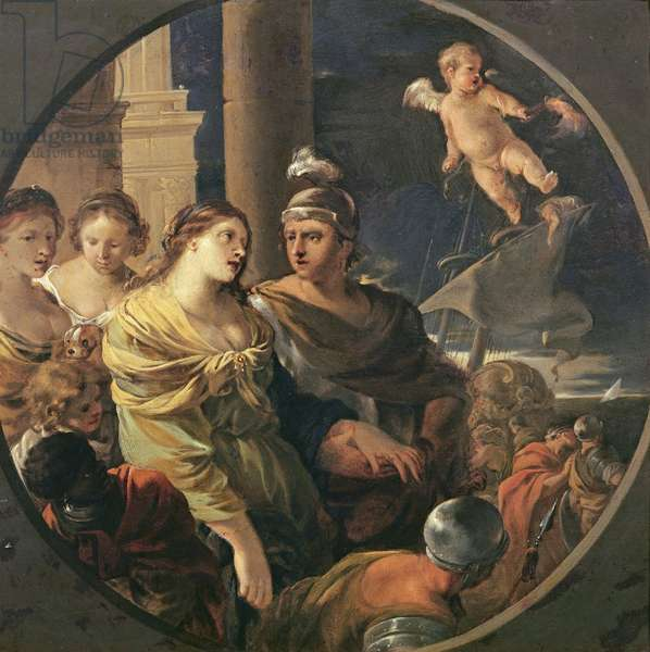 The Farewell of Dido and Aeneas (oil on copper)