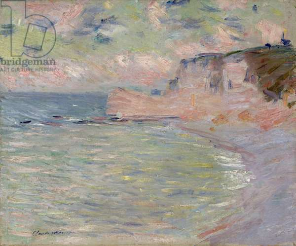 Cliffs and the Porte d'Amont, Morning Effect, 1885 (oil on canvas)