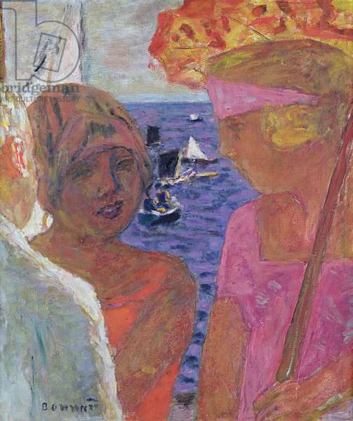 The Conversation at Arcachon, 1926 (oil on canvas)
