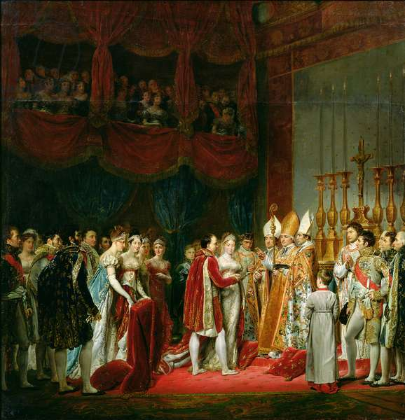 The Marriage of Napoleon I (1769-1821) and Marie Louise (1791-1847) Archduchess of Austria, 2nd April 1810, 1810 (oil on canvas)