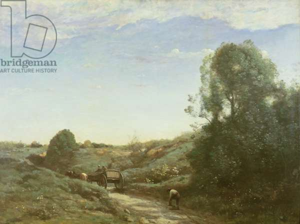 La Charette, memory of Marcoussis (oil on canvas)