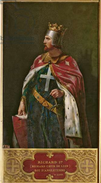 Richard I the Lionheart (1157-1199) King of England, 1841 (oil on canvas)