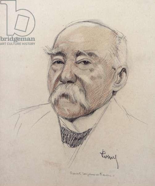 Portrait of Georges Clemenceau (1841-1929) (pencil on paper)