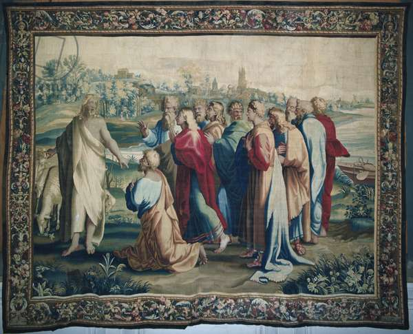 Tapestry depicting the Acts of the Apostles, the calling of Saint Paul (detail of the apostles), woven at the Beauvais Workshop under the direction of Philippe Behagle (1641-1705), 1695-98 (wool tapestry)