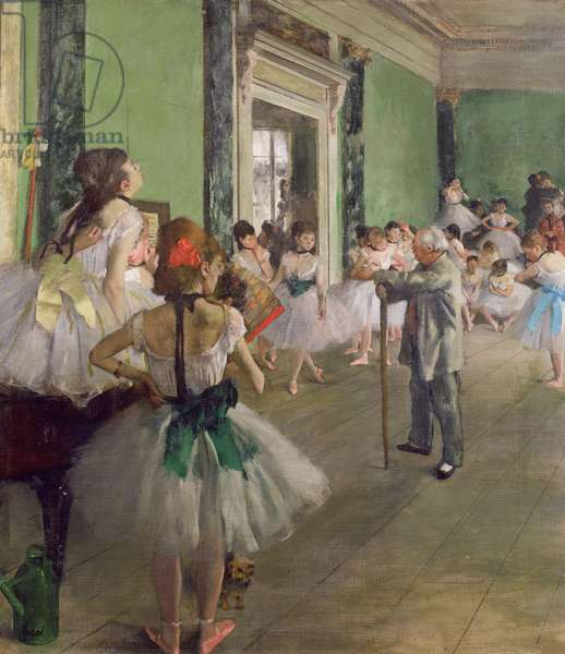 The Dancing Class, c.1873-76 (oil on canvas)