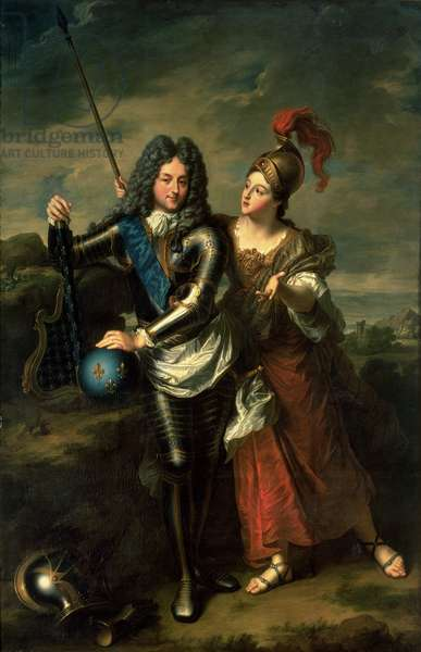 Philippe II d'Orleans (1674-1723) the Regent of France and Madame de Parabere as Minerva, c.1716 (oil on canvas)