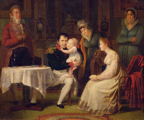Napoleon I (1769-1821) Marie Louise (1791-1847) and the King of Rome (1811-73) 1812 (oil on canvas)