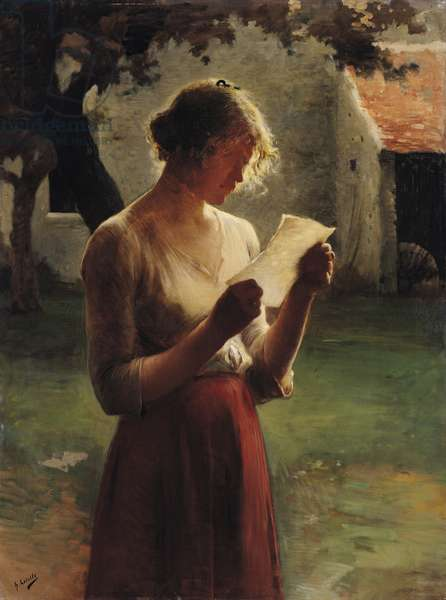 The Letter (oil on canvas)