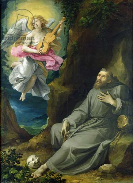 The Ecstasy of St. Francis of Assisi, c.1593 (oil on canvas)