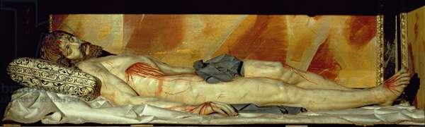 Dead Christ (polychrome stone)