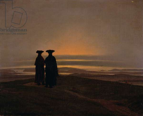 Sunset (Brothers) c.1830-35 (oil on canvas)