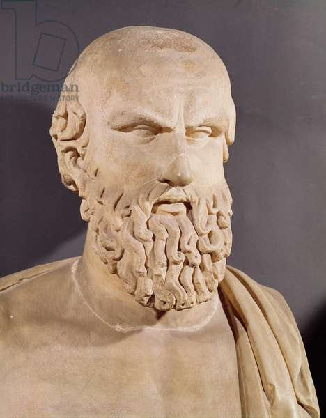 Bust of Aeschylus (c.525-c.456 BC) (stone)