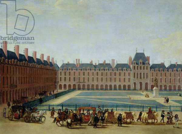 The Place Royale with the Royal Carriage, c.1655 (oil on canvas)