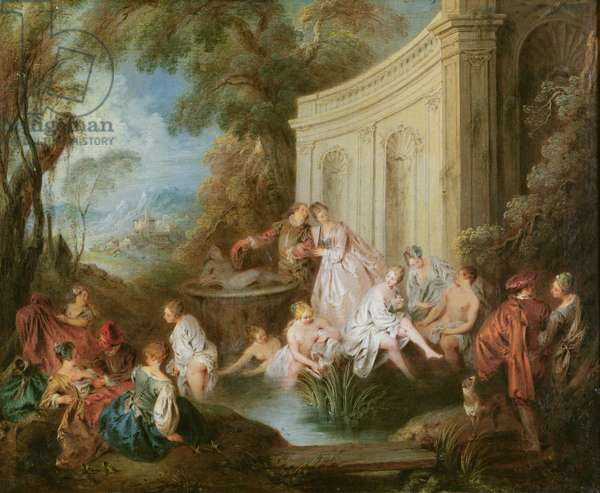The Bathers (oil on canvas)