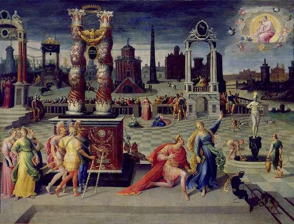 Augustus and the Tiburtine Sibyl (oil on canvas)