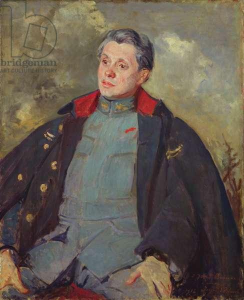 Joseph Paul-Boncour (1873-1972) in Uniform, 1916 (oil on canvas)
