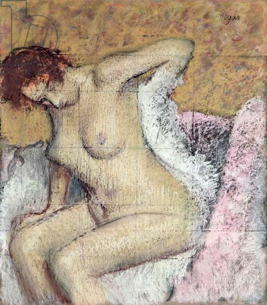 After the Bath (pastel & gouache on paper)