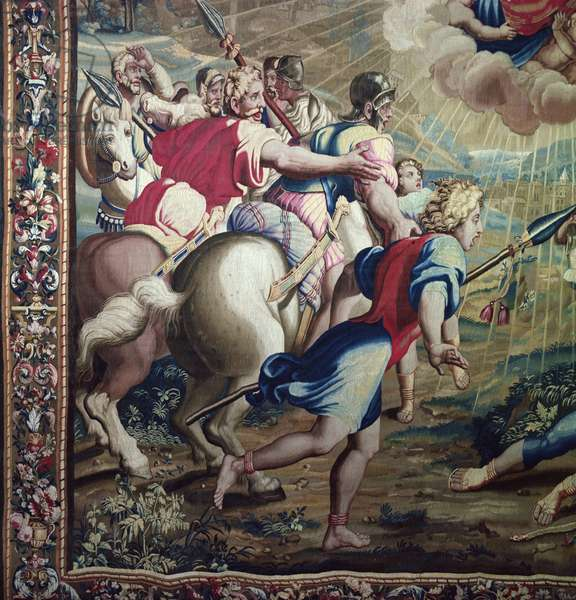 Tapestry depicting the Acts of the Apostles, the Conversion Saint Paul (detail of Saint Paul's companions), woven at the Beauvais Workshop under the direction of Philippe Behagle (1641-1705), 1695-98 (wool tapestry)