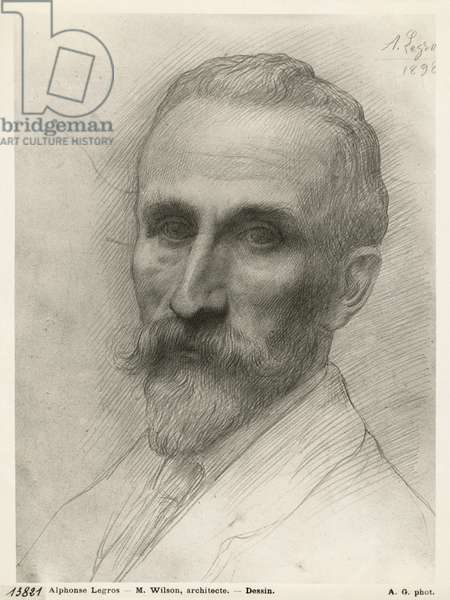 Mr Wilson, architect, 1898 (silverpoint on cardboard)
