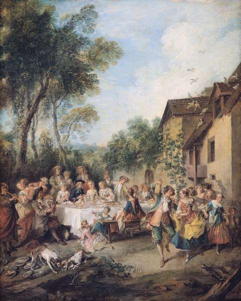 Wedding Feast in the Village (oil on canvas)