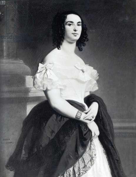 Adele Foucher (1803-68) 1839 (oil on canvas) (b/w photo)