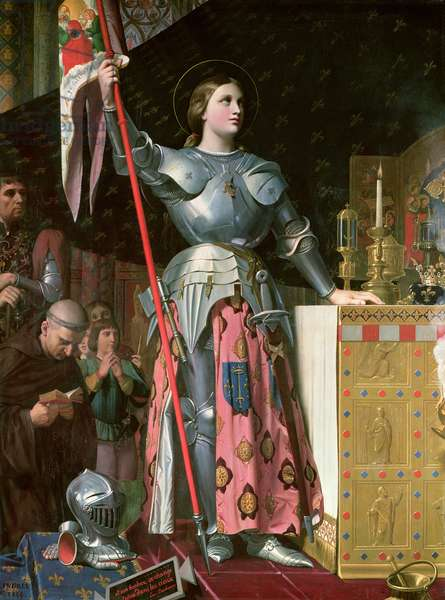 Joan of Arc (1412-31) at the Coronation of King Charles VII (1403-61) 17th July 1429, 1854 (oil on canvas)