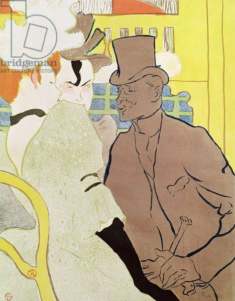 The Englishman at the Moulin Rouge, 1892 (colour litho)