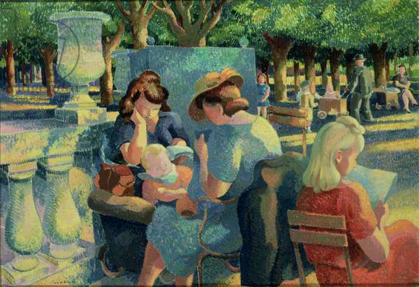 Luxembourg Gardens, 1943 (oil on canvas)
