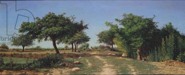 Path through the Apples Trees (oil)