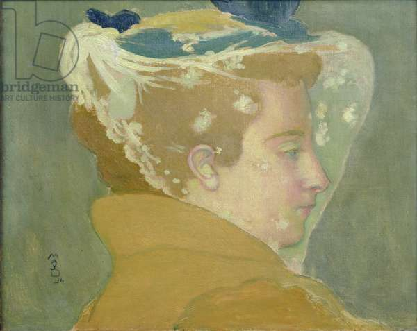 Portrait of Marthe with a White Veil, 1894 (oil on canvas)