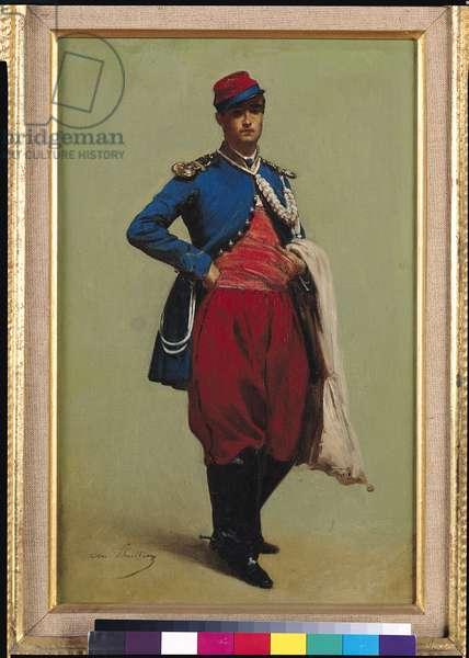 Portrait of Claude Monet (1840-1926) in Uniform, 1861 (oil on canvas)