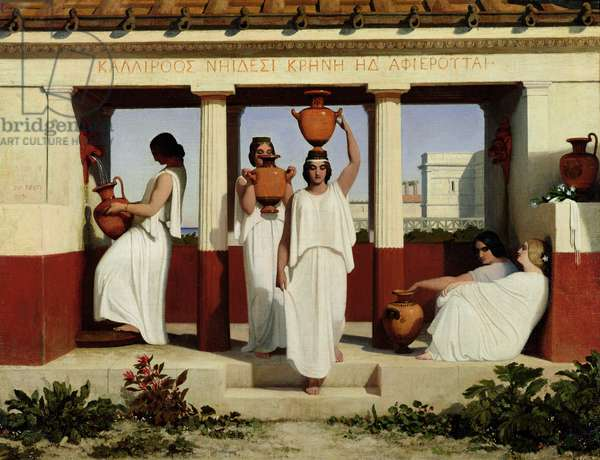 Greek Women at the Fountain, 1841 (oil on canvas)