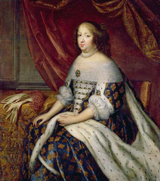 Portrait of Anne of Austria (1601-66) Queen of France (oil on canvas)