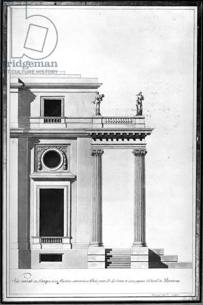 Design for the Bath House at the Hotel de Brancas, c.1760 (drawing)