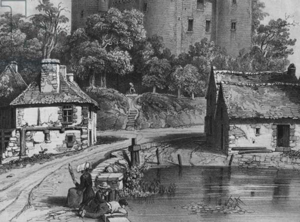 The Castle of Combourg (detail) (see also 382376) (litho)