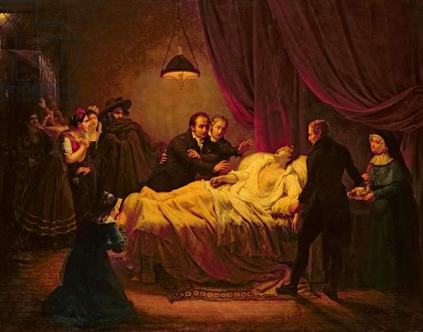The Death of Mazet, 1821 (oil on canvas)