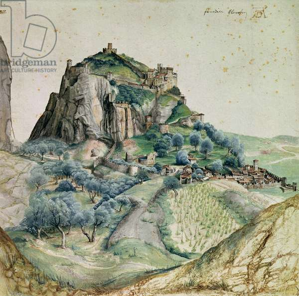 View of the Arco Valley in the Tyrol, 1495 (pen & ink and w/c on paper)