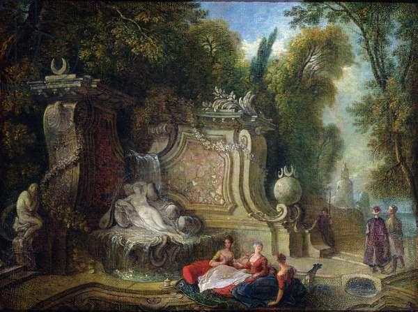 Oriental Garden (oil on canvas)
