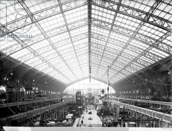 Machinery Hall, Universal Exhibition, Paris, 1889 (b/w photo)