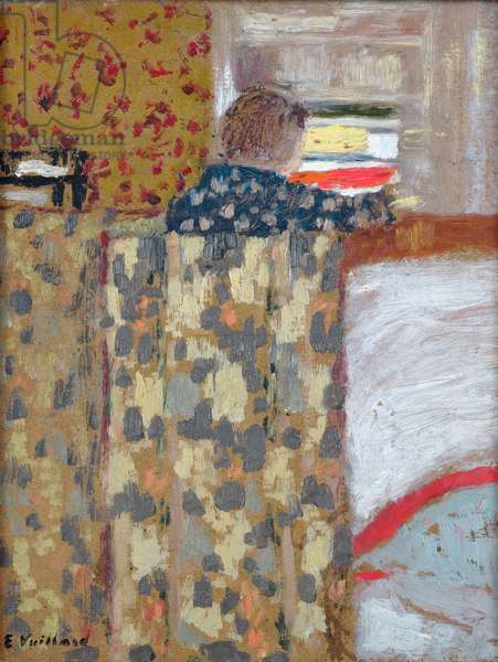 The Linen Cupboard, c.1893-95 (oil on card)