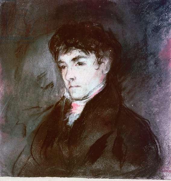 Portrait of Eugene Delacroix, c.1827 (pastel on paper)