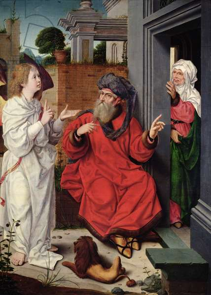 Abraham, Sara and an Angel, c.1520 (oil on panel)