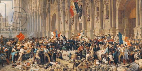 Lamartine rejects the red flag in 1848 (oil on canvas)