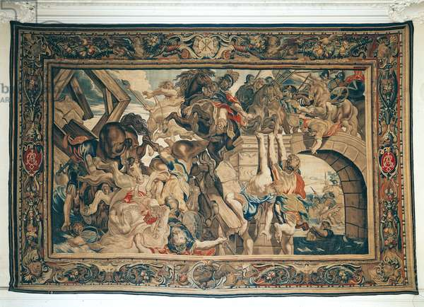Battle of Pons Milvius, from a series depicting the history of Constantine the Great (270-337) by Philippe Maecht and Hans Taye, before 1663 (tapestry)