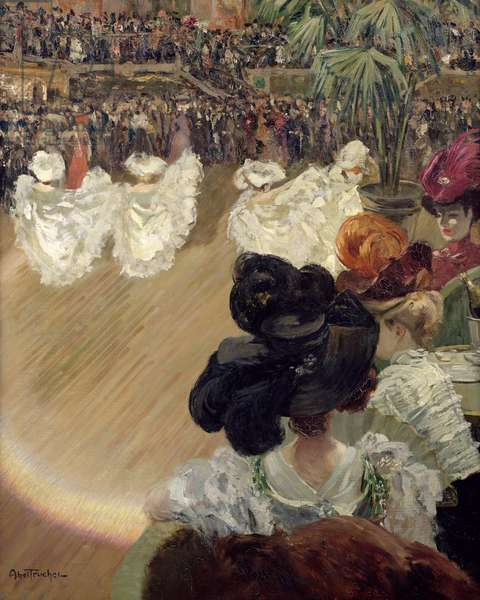 Quadrille at the Bal Tabarin (oil on canvas)