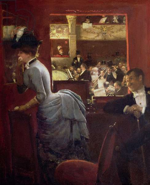 The Box by the Stalls, c.1883 (oil on canvas)