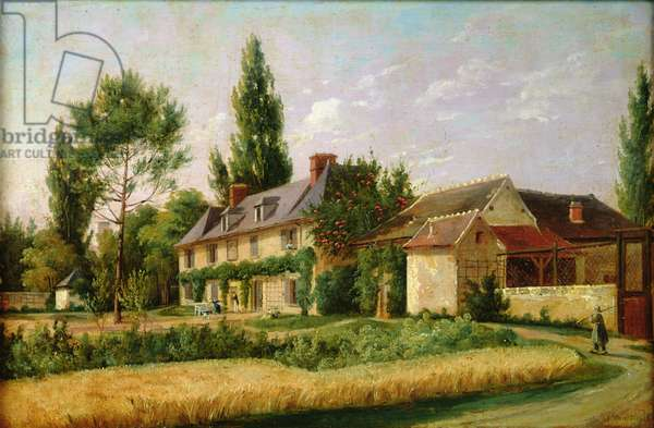 Country house on the outskirts of Paris, 1832 (oil on canvas)