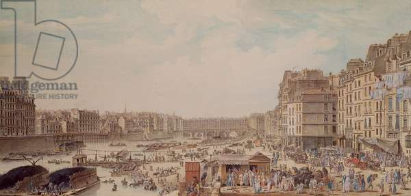 The Port au Ble and the Pont Notre-Dame, 1782 (w/c on paper)